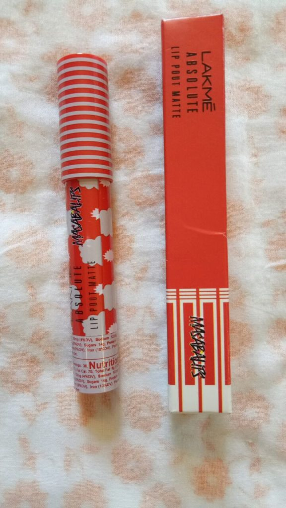 LAKME ABSOLUTE LIP POUT BY MASABA LIPS ORANGE CANDY